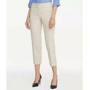 Ann Taylor Beige Straight Leg Cropped Pants